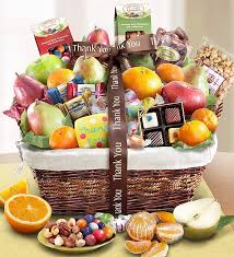 thank you baskets you fruit gift basket