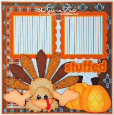feeling stuffed thanksgiving scrapbook pages