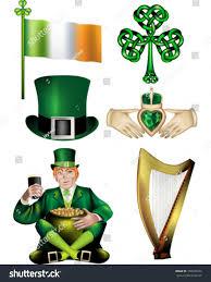 irish vector illustrations republic ireland flag stock vector