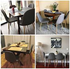 Dining Room Chairs Set Of 4 Greenforest Dining Side Chairs Eames Style Strong Metal Legs