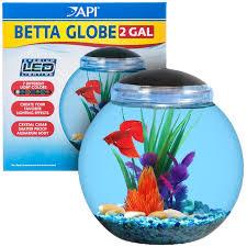 Fish Bowl Decorations Api Betta Globe Aquarium Kit 1 5 Gal
