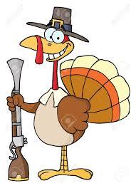 Thanksgiving Bird Thanksgiving Pilgrim Turkey Bird With A Musket Stock Photo