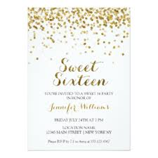 sweet 16 glitter invitations announcements zazzle