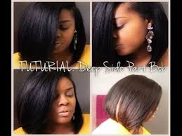 which hair is better for sew in bob tutorial deep side part bob sew in outre velvet perm yaki