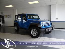 jeep gray blue used jeep wrangler in wisconsin and iowa