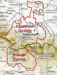 south ossetia map obkom s ossetia to draft documents for joining russia via