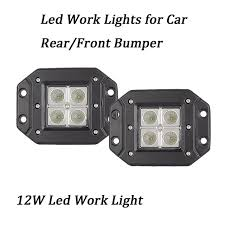flush mount led lights 12v 2pcs 3 12v 24v 12w led light with flush mount ip67 offroad cube