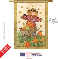 Monogram House Flags Scarecrow House Flag U0026 More Garden Flags At Flagsforyou Com