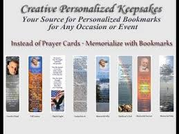 memorial bookmarks or prayer cards youtube