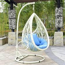 Outdoor Wicker Egg Chair Pe Rattan Garden Hanging Egg Chair Cheap Price Patio Leaf Design
