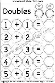 addition doubles u2013 2 worksheets doubles u0026 doubles plus one