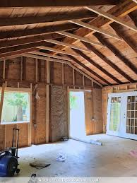 studio vaulted ceiling ridge line and decisions made