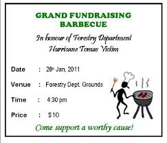 bbq tickets template st lucia forestry department environmental education unit fund