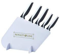 5 pcs non stick coating knife set with stand rl mgs5w royalty line