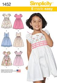 dress pattern 5 year old simplicity 1452 child s dress with bodice and sleeve variations