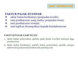 cara membuat faktur pajak untuk uang muka faktur pajak standar ppt download