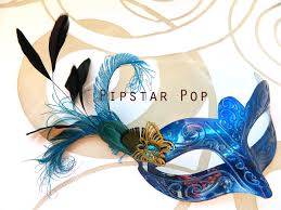 peacock masquerade masks sapphire blue peacock feather royalty woman venetian masquerade
