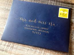 wedding calligraphy envelope addressing modern font hand