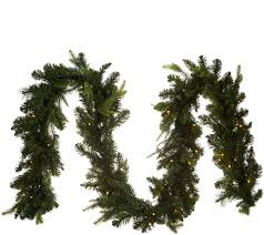 improvements indoor outdoor lighted christmas garland diy wreaths garlands christmas holiday for the home improvements