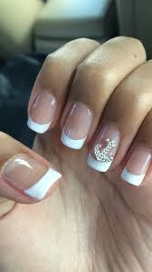 anchor cute nails french tip white classy cute nails