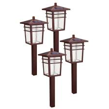 hton bay solar powered shepherds hook path light 4 pack 49844