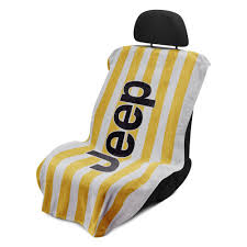 jeep beach logo seat armour towel seat cover with automotive logos