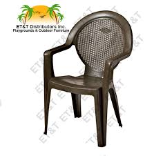 Stackable Resin Patio Chairs by Grosfillex Trinidad Resin Patio Dining Chair W Arms Et U0026t