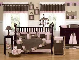 modern colorblock pink brown baby bedding 9pc nursery crib
