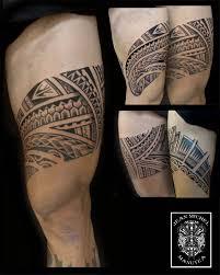 tatouage polynesien polynesian tattoo leg tattoo