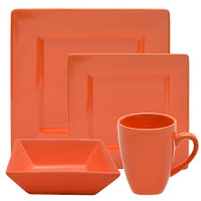 dinnerware 16 dinnerware set square black square
