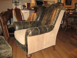 Leather Armchair With Ottoman High End Furniture Bomber Jacket Leather Chair Tanned Elk With Ottoman