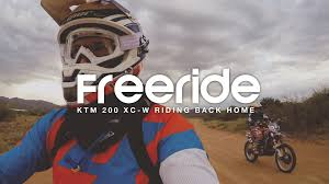 ktm motocross helmets ktm 200 xc w free ride back home youtube