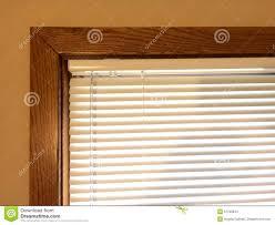 mini blinds wood window frame stock photo image 51798944