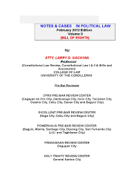 2012 consti 2 lecture with cases 1 substantive due process due