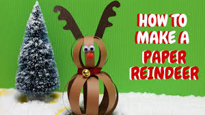 how to make a paper reindeer christmas crafts paper ball