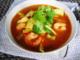 mexican tortilla soup with shrimp freshness