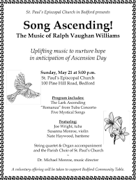 song ascending the of ralph vaughan williams at st paul s