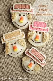 happy thanksgiving scarecrow sugar cookies handmade in the