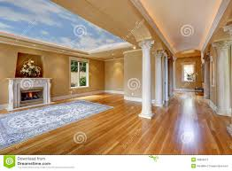 luxury house interior living room with column stock photo image