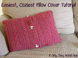 Knitted Cushion Cover Patterns Pillow Cover If Only They Would Nap