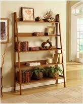 winter shopping special contemporary black leaning ladder shelf