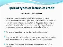 type of letter of credit format