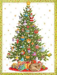 caspari cards entertaining with caspari cat christmas tree christmas cards box