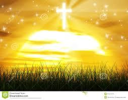 christian cross jesus sun background royalty free stock