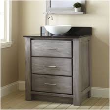 Shallow Bathroom Cabinet Gray Stained Oak Wood Bathroom Vanity With Three Storage Drawers