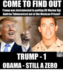 Us Marine Meme - come to find out trump was instrumental in getting us marine sgt
