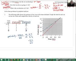 velocity time graph worksheet youtube