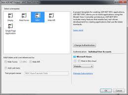 create first asp net mvc application