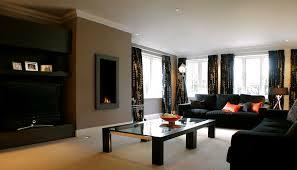 lovely black living room furniture interior on home decoration