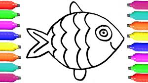draw fish coloring pages educational videos kids